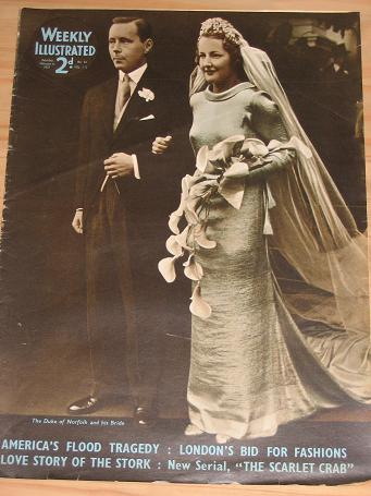 WEEKLY ILLUSTRATED magazine dated February 6 1937 - THE DUKE OF NORFOLK AND HIS BRIDE
