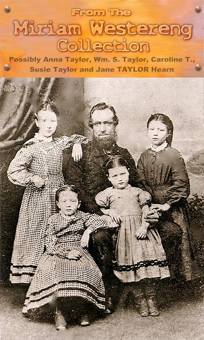 William Taylor Family portrait of himself and four of his five daughters