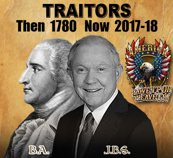 Traitor Then 1780 Now 2017